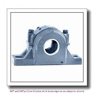 skf SAF 23026 KATLC x 4.3/8 SAF and SAW pillow blocks with bearings on an adapter sleeve