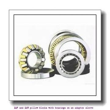 skf FSAF 1617 x 2.13/16 SAF and SAW pillow blocks with bearings on an adapter sleeve