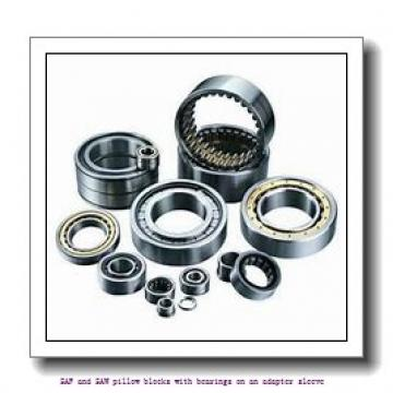 skf SSAFS 22522 x 3.11/16 SAF and SAW pillow blocks with bearings on an adapter sleeve
