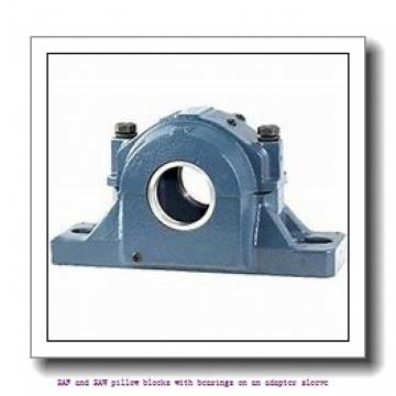 skf SAFS 22516-11 x 2.5/8 SAF and SAW pillow blocks with bearings on an adapter sleeve