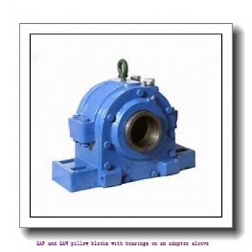skf SAFS 22530 x 5.3/8 SAF and SAW pillow blocks with bearings on an adapter sleeve