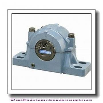 skf SAFS 22524 x 4.1/16 SAF and SAW pillow blocks with bearings on an adapter sleeve