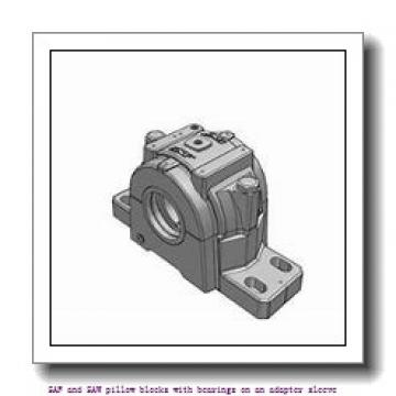 skf SSAFS 23048 KAT x 9 SAF and SAW pillow blocks with bearings on an adapter sleeve